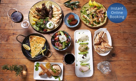 Seven Course Greek Feast with Wine for Two ($59) or Four People ($115) at The Aegean (Up to $268 Value)