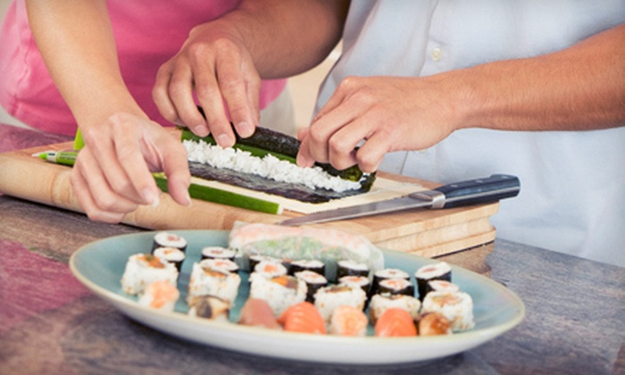 Saga Hill Cooking & Events - Warehouse District: Summer Cooking Class including Sushi and Mojitos for One or Two at Saga Hill Cooking & Events (55% Off)