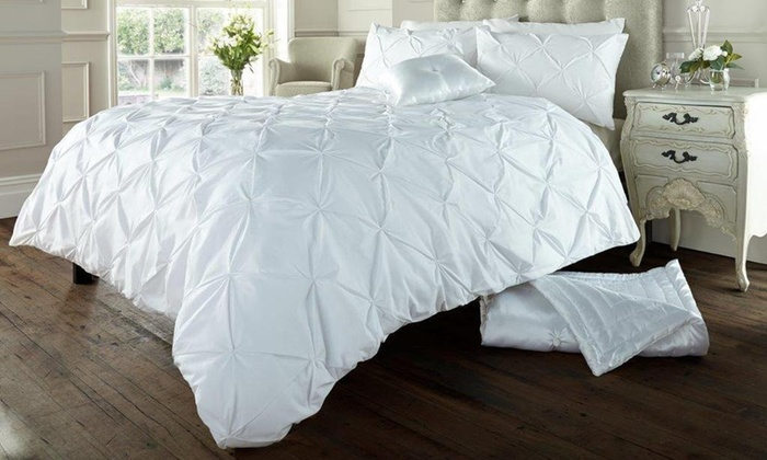 Soft Touch Pin Tuck Duvet Set from £20