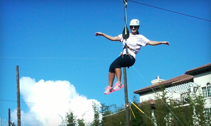 Zip-n-Climb Adventures - Grande Lakes Resort: One or Three Zipline Excursions for Two at Zip-n-Climb Adventures (Half Off)