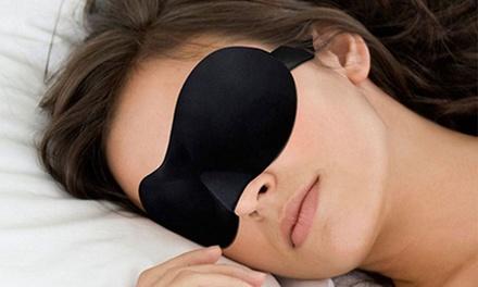 One or Two Black 3D Eye Sleep Masks