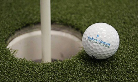 Unlimited Indoor Mini-Golf for Two or Four at Indoor Greens Mini Golf and Cafe (53% Off)