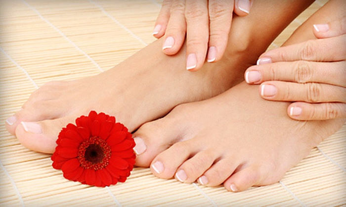 Applause Salon - Downtown Scottsdale: Regular Mani-Pedi or Pedi with Shellac Mani for One or Pedicure and Champagne for Four at Applause Salon (Up to 61% Off)