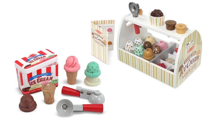 Melissa Doug Scoop Serve Ice Cream Playsets Groupon