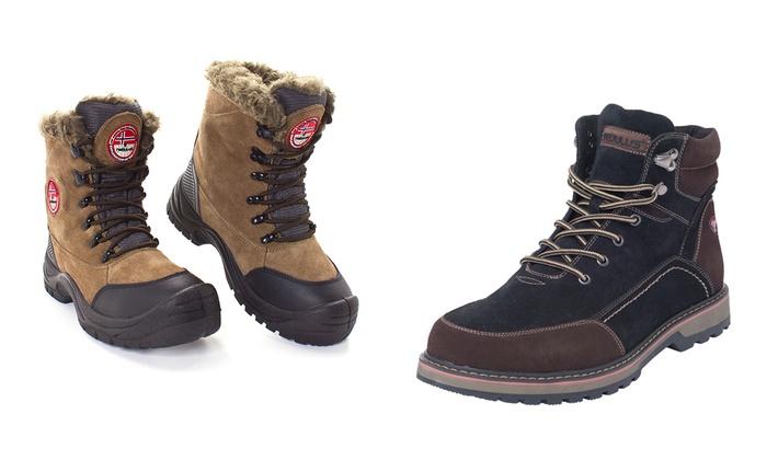 2f5642720d20 Pour Shopping En Femme Et Boots Nebulus Groupon Cuir D hiver Homme RwHqzI