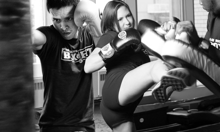 5 or 10 Intro Boxing or Muay Thai Group Classes or One Month of Classes at Paul Brown Boxfit (Up to 85% Off)