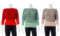 GROUPON: Juniors' Dolman Sleeve Eyelash Knit Sweater Juniors' Dolman Sleeve Eyelash Knit Sweater