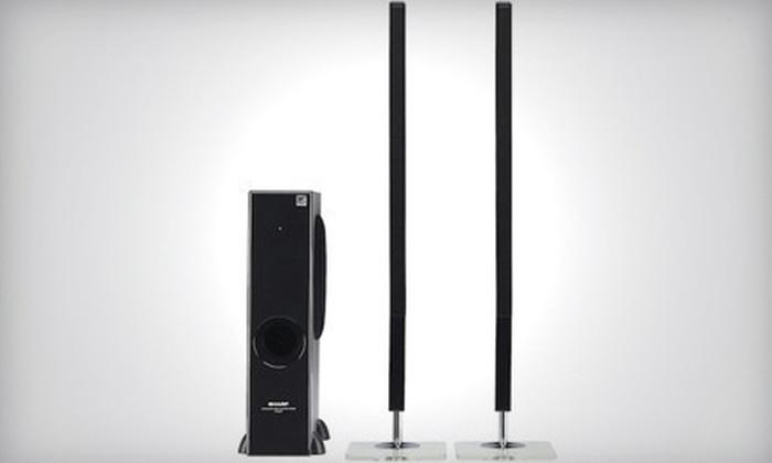 Sharp Super-Slim Home Speakers System: $169 for a Sharp Super-Slim Home Speakers System ($299 List Price)