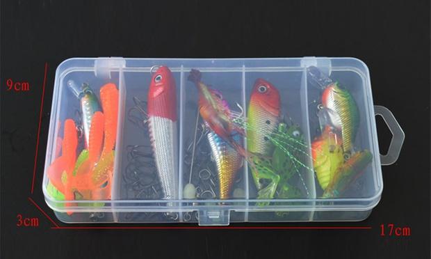 Fishing Lure Set: 20 Piece ($12), 36 Piece ($19), 67 Piece ($24) or 100 Piece ($29)