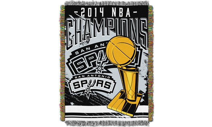 San Antonio Spurs NBA Champions Tapestry Throw Blankets Groupon Beauteous Spurs Throw Blanket