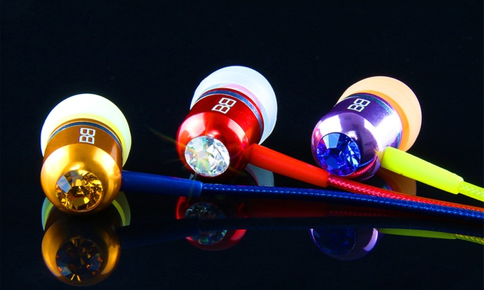 BassBuds Earbuds with Swarovski Elements and Hands-Free Mic: $19.99 for BassBuds Earbuds with Swarovski Elements ($85 List Price). 11 Colors Available. Free Shipping.