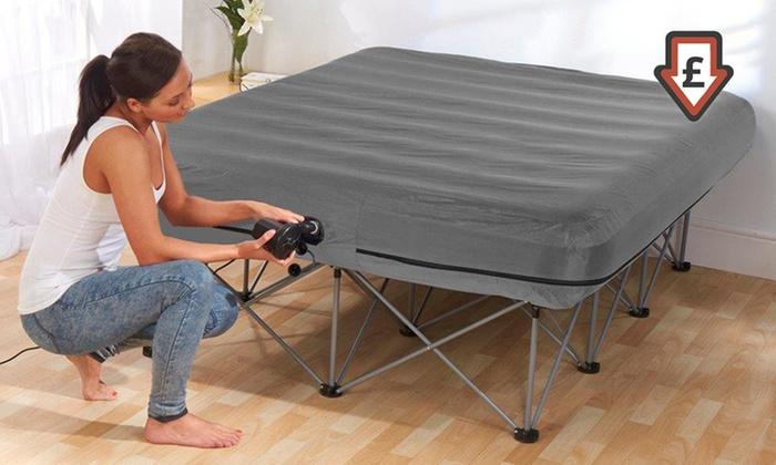 inflatable double mattress bed