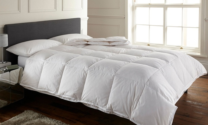 Groupon Goods Global Gmbh All Seasons Double Sided Duck Feather Duvet From 30 98