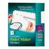 Avery Index Maker Clear Label 5-Tab Dividers