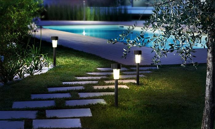 Lampade segnapasso groupon goods - Lampade giardino energia solare offerte ...