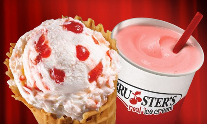 Bruster's Ice Cream - Multiple Locations: $5 for $10 Worth of Ice Cream at Bruster's Ice Cream
