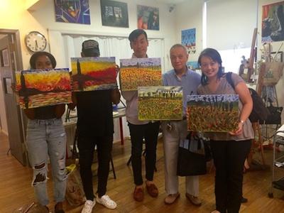 Art and portfolio prep classes new york art studio groupon for Groupon painting class