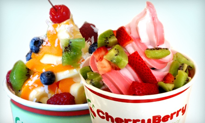 CherryBerry - Northeast Tampa: $10 for Two $10 Groupons for Frozen Yogurt at CherryBerry ($20 Value)