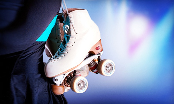Super Skate - Dallas: Roller-Skating Package for 4, 8, or 12 with Skate Rental, Pizza, and Soda at Super Skate (Up to 67% Off)