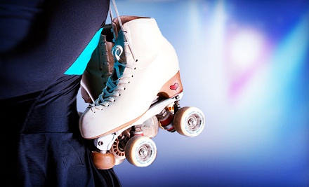 Roller-Skating for 4, Including Admission for 4, 4 Skate Rentals, 1 Pizza, and 1 Pitcher of Soda - Super Skate in Dallas