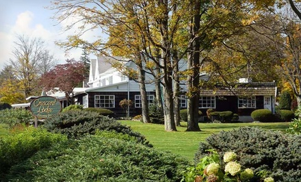 Allentown / Reading: One- or Two-Night Stay with Champagne at Crescent Lodge & Country Inn in the Pocono Mountains