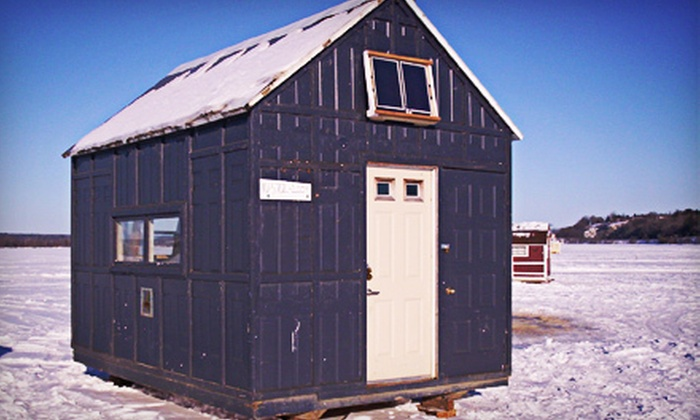 Oziles' - Orleans: $69 for a Weekday Ice-Hut Rental with Wood, Bait, and Rods from Oziles' ($125 Value)