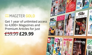 Magzter: 12-Month Magazines Subscription for Up to Five from Magzter (50% Off)