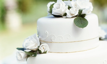Wedding Cakes from Sweetart Creative Baking (50% Off). Three Options Available.