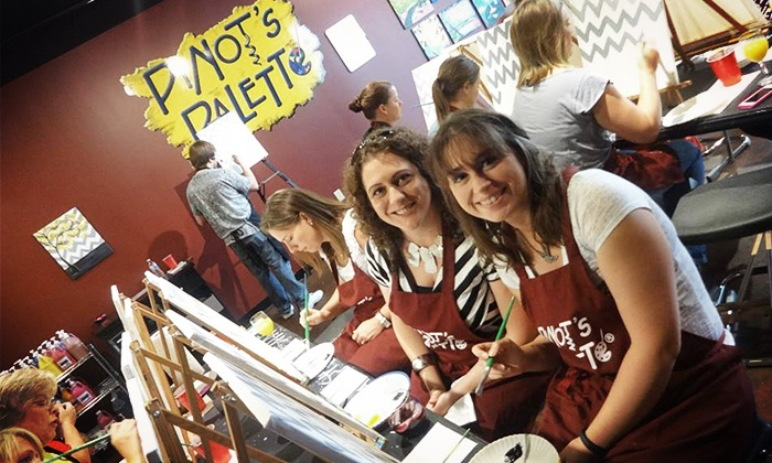 Pinot's Palette - Fayette Mall: Two- or Three-Hour  Painting Class for Two at Pinot's Palette (Up to 50% Off)