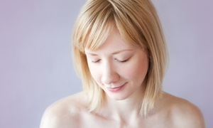 April at Blondie's: One Haircut with Option of Eyebrow or Lip Wax at April at Blondie's (Up to 54% Off)