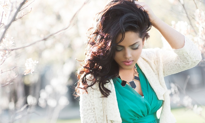 Salon J-Elle - Metairie: $55 for Ultimate Back-Bar Treatment with a Blowout and Makeup Application at Salon J-Elle ($110 Value)