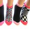 6 Pairs of Diamond Graffiti Girls' No-Show Socks