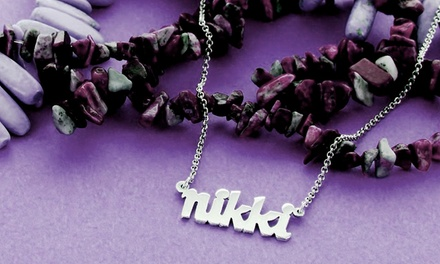 ShopOnlineDeals Sterling Silver Mini Name Necklace