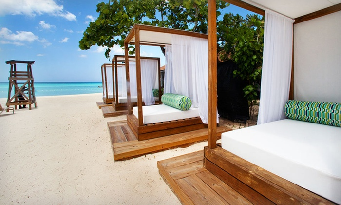 Sandy Haven Resort - Negril, Jamaica: 3- or 5-Night Stay for Two with Daily Breakfast and Cabana Rental at Sandy Haven Resort in Jamaica