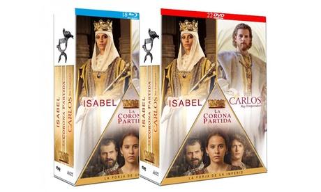 Pack de series Isabel + La corona partida + Carlos, Rey Emperador en DVD o BD desde 79,95 € (con envío gratuito) Oferta en Groupon