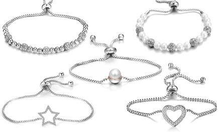 Bracciali Friendship Philip Jones con cristalli Swarovski® disponibili in 5 modelli e vari colori