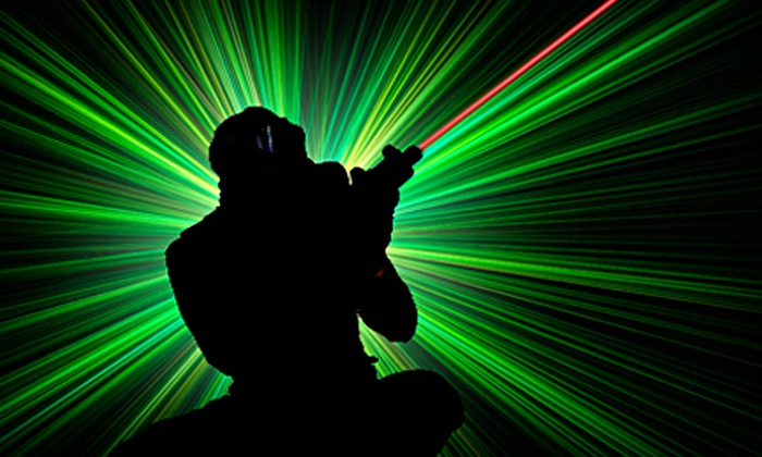 Lazer Gate - Fall River: Three Games of Laser Tag or Mini Golf for Four or Six at Lazer Gate (Up to 57% Off). Four Options Available.