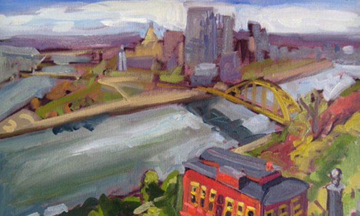 Studio Ochre - Coraopolis: Three-Hour Pittsburgh-Themed Painting Class for One, Two, or Four at Studio Ochre (Up to 57% Off)