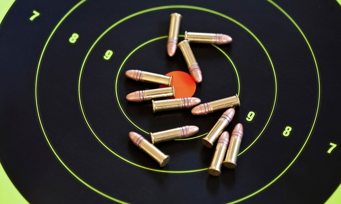 Bullet Trap, Inc. - Plano: Intro to Shooting Class for 1, 2, or 4 with Gun Rental, Ammo, and Range Fees at Bullet Trap, Inc. (Up to 72% Off)