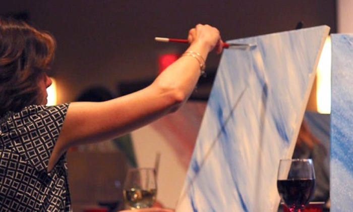Paint Social Art - Longmeadow: Guided Painting Night Admission for One, Two, or Four from Paint Social Art(Up to 51% Off)