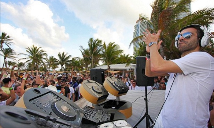 WMC Electric Beach - Nikki Beach: WMC Electric Beach Party at Nikki Beach on March 22 at Noon (Up to 50% Off)