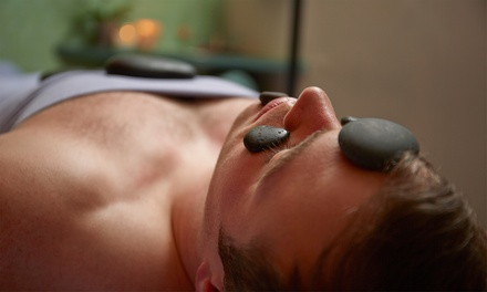 One or Three Hot-Stone Massages at Rivini Salon and Reflexology (Up to 51% Off)