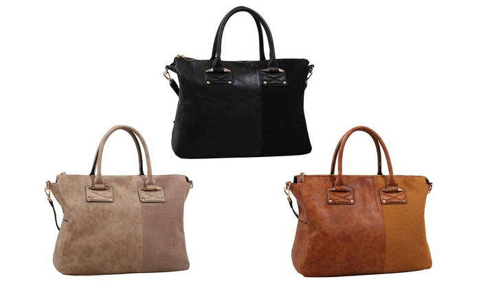 MKF Collection Half and Half Weekender Bag by Mia K. Farrow