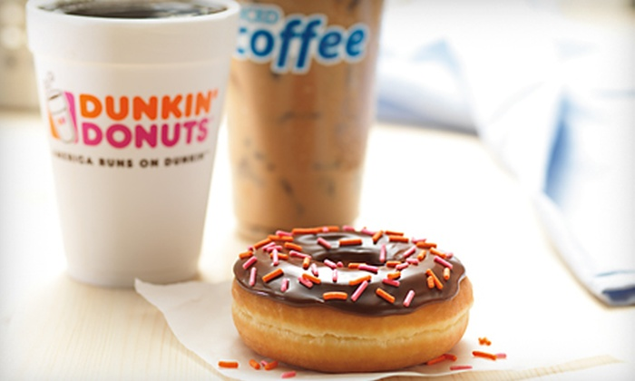 Dunkin' Donuts - Youngstown: $6 for a $10 Dunkin' Card for Donuts, Coffee, and Breakfast Fare at Dunkin' Donuts