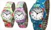 Geneva Floral Stretch Watches: $7.99 for a Geneva Women's Floral Stretch Watch ($24.99 List Price). 5 Colors Available. Free Returns.