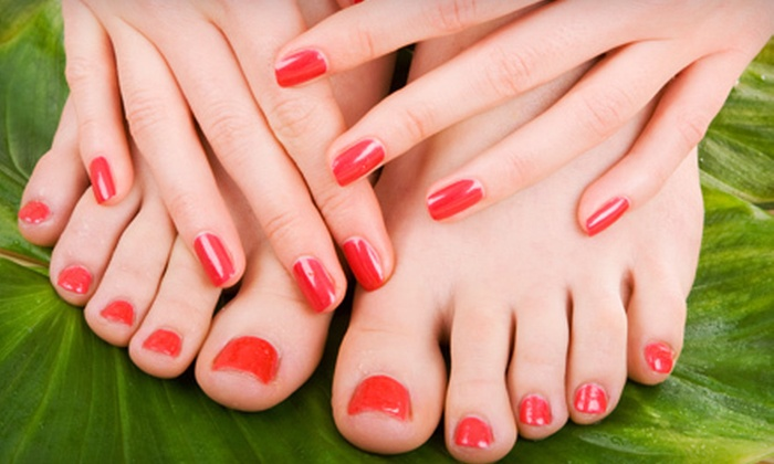 Nails By Victoria at Yamane Salon - Northwest District: Basic Shellac Manicure with Option for Spa Pedicure at Nails by Victoria at Yamane Salon (Up to 54% Off)