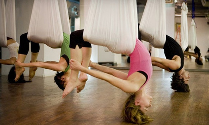 Vertical Girl Fitness - Warrenton: 5 or 10 Aerialfit Yoga Classes at Vertical Girl Fitness in Warrenton (Up to 69% Off)