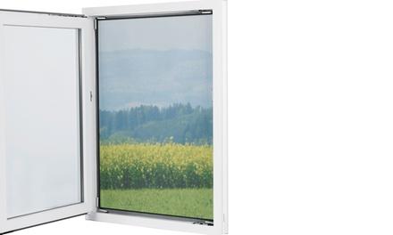 Easymaxx Moskitonetz 150 x 130 cm schwarz mit 12 Magnethaltern zur Befestigung für Fenster