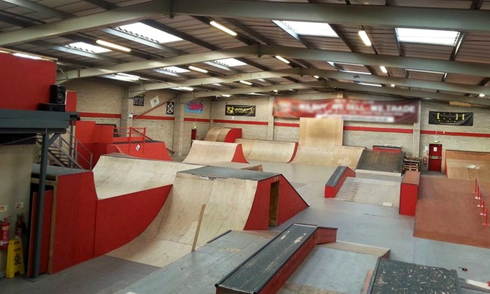 Skatepark entry override indoor skatepark groupon for Indoor skatepark design uk