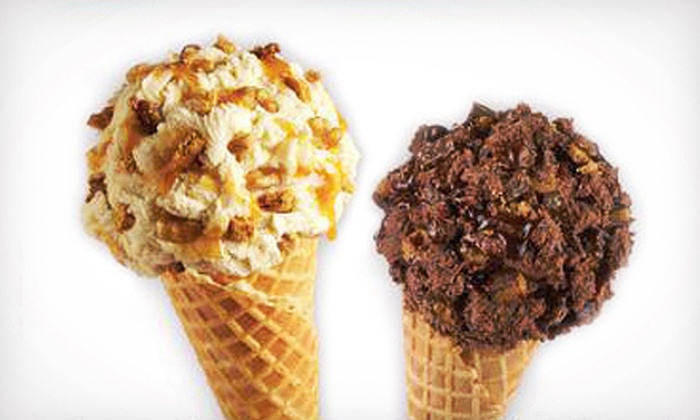Marble Slab Creamery - Strawberry Hill: Two or Four Small Ice-Cream Cones with Mix-In at Marble Slab Creamery in Surrey (Up to 55% Off)
